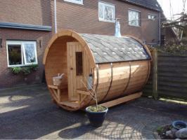 sauna fasssauna saunafass nordische saunakota nh 9 2 inkl harvia holzfeuerung komplett. Black Bedroom Furniture Sets. Home Design Ideas