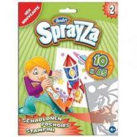 Schablonen-Set 2 für SprayZa Stifte, Airbrush, Neu