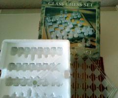 Foto 2 Schachspiel aus Glas