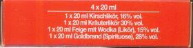 Foto 4 Schachtel mit 4 Fläschchen DDR-Likör (je 20 ml)