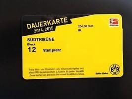 Schal + BVB Dauerkarte + Überschreibung BVB Dauerkarte Block 12