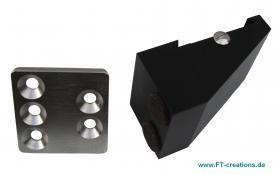 Schiebetuersicherung FTS801 Edelstahlplatte und Alu Block