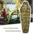 Schlafsack Mumienschlafsack flecktarn Camping Militär -10°C Zelt Neu Jagd Zubehör Mumien Schlaf Sack Camouflage Vier 4 Jahreszeiten geeignet
