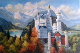 Schloss Neuschwanstein 60 x 90 cm