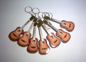 Schlüsselanhänger Akustisch Gitarre