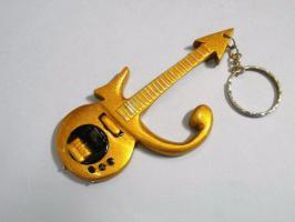 Schlüsselanhänger - Prince Gold Symbol guitar