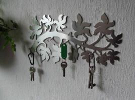 Edelstahl Schluesselbrett - Design Schlüsselbrett