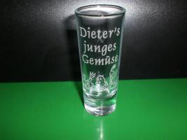 Schnapsglas - Likörglas mit Gravur