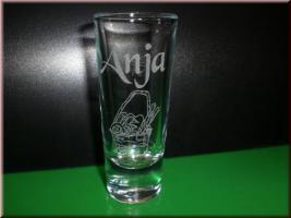Foto 2 Schnapsglas - Likörglas mit Gravur