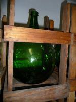 Schnapskolben Glas im Holzgestell 25 liter (auch als Gärkolben od. Deko)