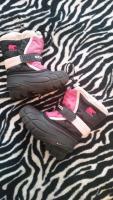 Schneestiefel von SOREL Gr. 25 pink/schwarz
