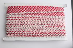 Foto 3 Schrägband mit Häkelspitze, Baumwolle, 20m Wickel, Vickykaro Muster