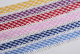 Foto 4 Schrägband mit Häkelspitze, Baumwolle, 20m Wickel, Vickykaro Muster