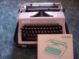 Schreibmaschine Erika DDR, Kofferschreibmaschine, Reiseschreibm.