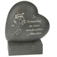 Foto 6 Schriftrolle Grabdekoration, Grabbuch mit Inschrift, Grabherz auf Sockel