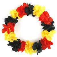 Schwarz rot gold Hawaii Kette de Luxe, Fußball Party Mütze