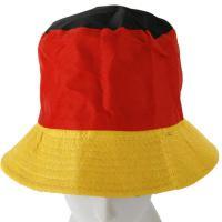 Foto 2 Schwarz rot gold Hawaii Kette de Luxe, Fußball Party Mütze