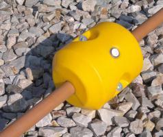 Foto 2 Schwimmer für Hydrotransport 315 mm Polyethylen zylinderförmig Polyurethan-Schaum gelb Neuware