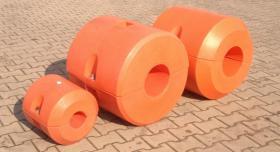Foto 3 Schwimmer für Hydrotransport 315 mm Polyethylen zylinderförmig Polyurethan-Schaum gelb Neuware