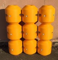 Foto 4 Schwimmer für Hydrotransport 315 mm Polyethylen zylinderförmig Polyurethan-Schaum gelb Neuware