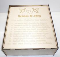 Foto 4 Sektgläser mit Gravur - Geschenkspackung aus Holz