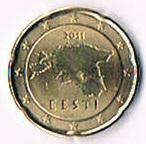 Selten Estland Kursmünze '' 20 '' Euro Cent '' 2011 '' !