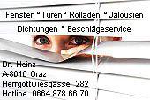 Service Reparaturen Fenster Türen Jalousien Rollo Fensterheizung