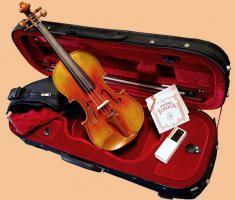 Set Violine Geige GRANDEZZA in 3/4 (8-11 Jahre), NEU - reine Handarbeit