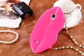 Foto 12 Sexy Lippe Silikon Weiches Design Schutzhülle für Samsung Galaxy S4 i9500 und S5 i9600