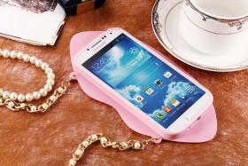 Foto 24 Sexy Lippe Silikon Weiches Design Schutzhülle für Samsung Galaxy S4 i9500 und S5 i9600