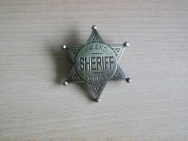 Sheriffstern  Grand County -Messingfarben-