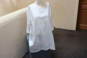 #Shirt m. Perlen, Gr. 50, #offwhite, #Top-Zustand, #Cadeaux