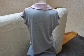 Foto 3 #Shirt m. Polokragen, Gr. 42, #grau-rosa, #MM, #hochwertig