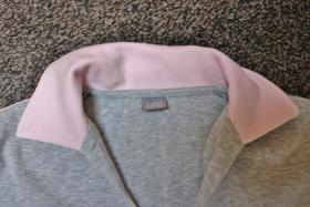 Foto 4 #Shirt m. Polokragen, Gr. 42, #grau-rosa, #MM, #hochwertig