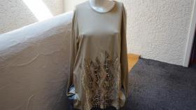 #Shirt m. Schlangenprint, Gr. #46, goldbeige, #MM, #NEU