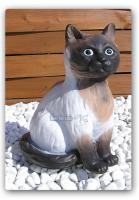 Siam Katze als Aufstellfigur oder Gartenfigur zur Dekoration.