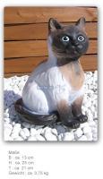 Foto 2 Siam Katze als Aufstellfigur oder Gartenfigur zur Dekoration.