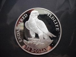 Siber Münze 50 Dollars