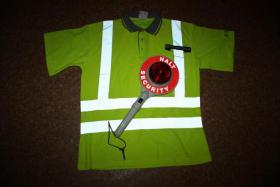 Sicherheits Dienst Bekleidung im Test - Signalfarbendes Plohemd der Firma ALLBUYONE -