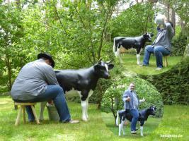 Foto 2 Sie Melk Kuh passt sogar auf Deinen Balkon wo Du dann … richtig meklen kannst was und wen Du es Willst ...