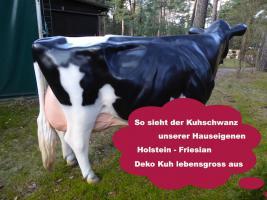 Foto 2 Sie bestellen … Wir liefern … Deko Kuh lebensgross ...