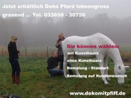 Sie möchten ein grasendes Deco Horse lebensgross ... Tel. 0049 (0) 33767 - 30750