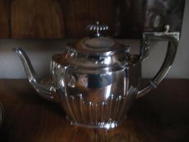Silber 800 Kaffee- Teegeschirr + Tablett 5tlg BRUCKMANN