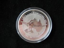 Silber Münze 1 Dollar Kookaburra 2002 Australien