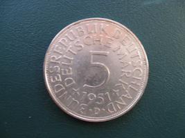 Silberadler 5 Deutsche Mark von 1951