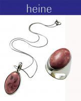 Silbercollier und Silberring mit Thulit  NEU