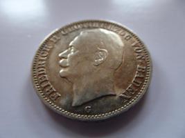 Silbermünze 3 Mark, 1912, Friedrich II Grossherzog von Baden