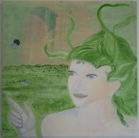 Sklavin - Acrylmalerei, Leinwand 70-70