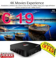 Smart TV Box V88 QuadCore 4K nur € 19  frei Haus