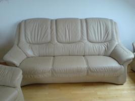 sofa garnitur 3 2 1 teilig echt leder sehr guter zustand zu verkaufen in landsberg am lech. Black Bedroom Furniture Sets. Home Design Ideas